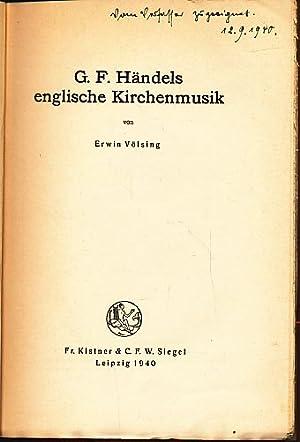 G. F. Händels englische Kirchenmusik. Schriftenreihe des Staatlichen Instituts für deutsche ...