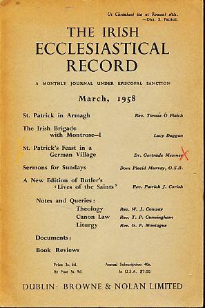The Irish Ecclesiastical Record. March, 1958. A