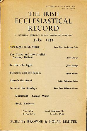 The Irish Ecclesiastical Record. July, 1957. A