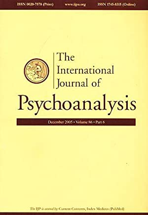 The International Journal of Psychoanalysis. December 2005.: Gabbard, Glen O.