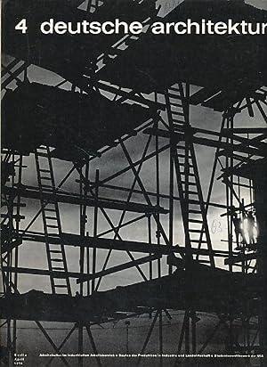 Architektur der DDR. 22. Jg. 4/1973.: Krenz, Gerhard (Red.):