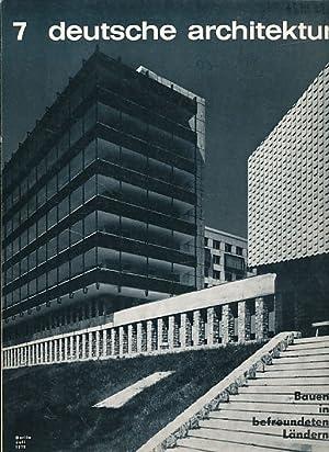 Architektur der DDR. 21. Jg. 7/1972.: Krenz, Gerhard (Red.):