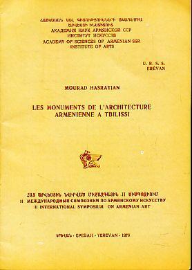 Les monuments de l'architecture armenienne a Tbilissi.: Hasratian, Mourad: