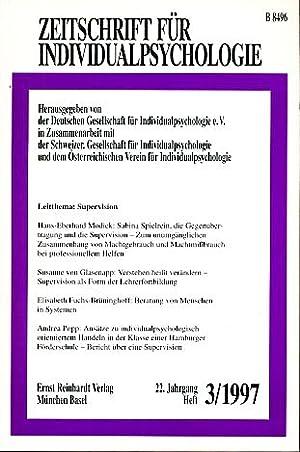 Zeitschrift für Individualpsychologie (ZfIP). 22. Jg., 1997,: Andriessens, Pola, Robert