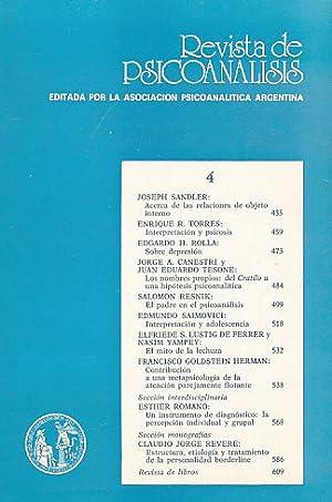 Nr. 4. 1989. Revista de Psicoanalisis.
