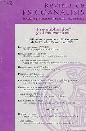 """Pre-publicados"""" y otros escritos. Publicaciones previas al"""