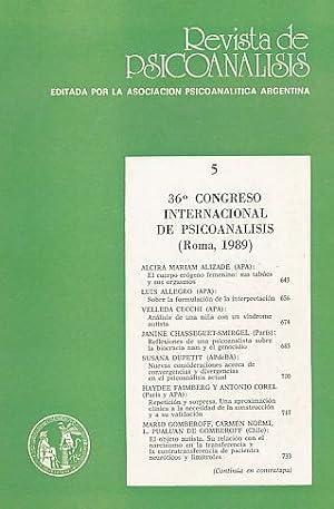 36. Congreso Internacional de Psicoanalisis /Roma 1989).
