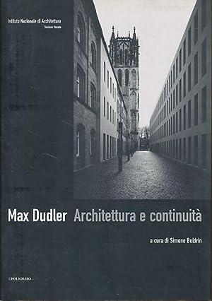 Max Dudler, architettura e continuità Mostra Museo: Dudler, Max: