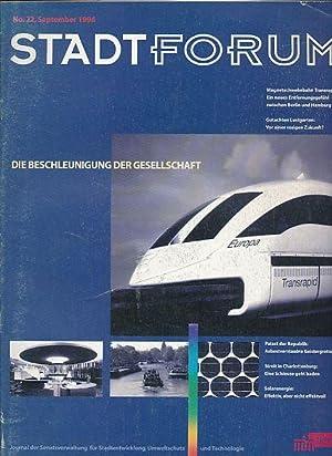 Stadtforum-Journal. Konvolut von 16 Heften. Nr. 22-: Meuser, Philipp und