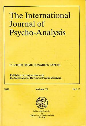The International Journal of Psycho-Analysis. 1990, Volume: Tuckett, David and