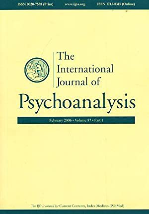 The International Journal of Psychoanalysis. (= Kompletter: Gabbard, Glen O.