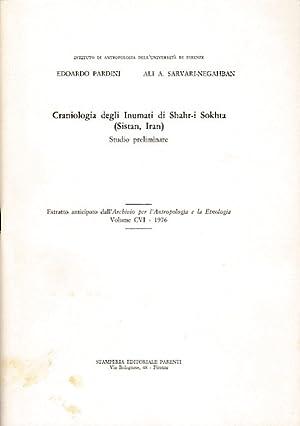 Craniologia degli Inumati di Shahr-i Sokhta (Sistan,: Pardini, Edoardo und