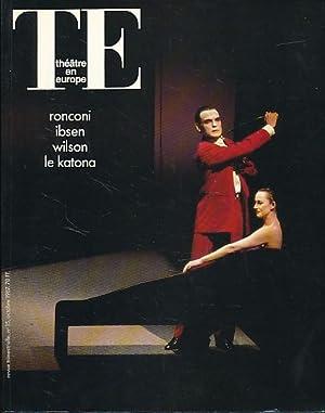 TE. Theatre en Europe. No. 15, 1987.: Strehler, Giorgio (Ed.):