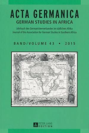 Acta Germanica. German Studies in Africa 43.: Maltzan (Hrsg.), Carlotta