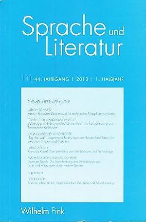 Sprache und Literatur 111. 44. Jg., 2013,: Binczek, Natalie, Ludwig