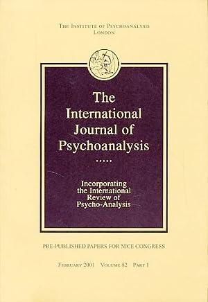 The International Journal of Psychoanalysis. 2001, Volume: Tuckett, David (Ed.):
