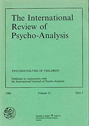 The International Review of Psycho-Analysis 1988, Volume: Hayley, Thomas T.