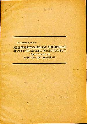 Die Reichsfeier zum 150. Geburtstag Arthur Schopenhauers: Ehrenstein, Walter: