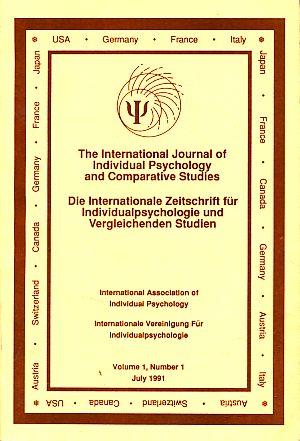The International Journal of Individual Psychology and: Carlson, Jon (Ed.):