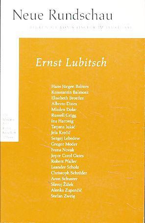 Neue Rundschau. 124. Jahrgang 2013, Heft 4.: Balmes, Hans-Jürgen, Jörg