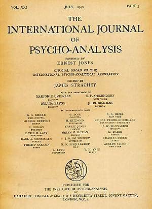 The International Journal of Psycho-Analysis. Vol. XXI.: Strachey, James (Ed.):