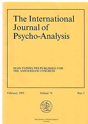 Main Papers Pre-Published for the Amsterdam Congress.: Tuckett, David (Ed.)