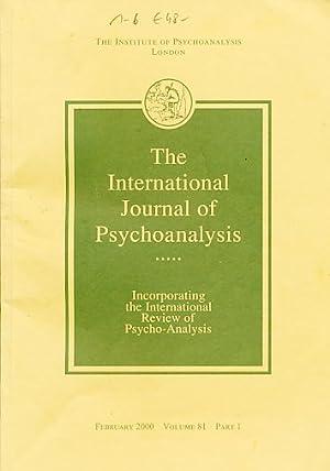 The International Journal of Psychoanalysis. 2000. Volume: Tuckett, David (Ed.):