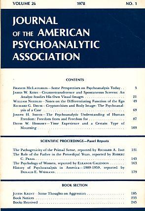 Journal of the American Psychoanalytic Association. Volume: Blum, Harold P.