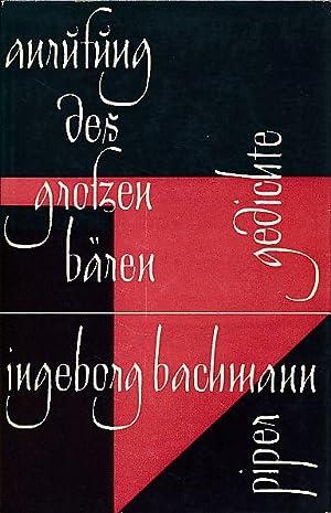 Bachmann Anrufung Des Grossen Baeren Erstausgabe Zvab