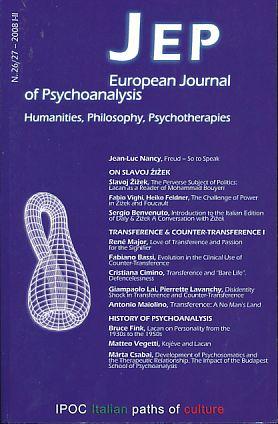 Journal of European Psychoanalysis. No. 26/27. 2008: Benevenuto, Sergio, Cristiana