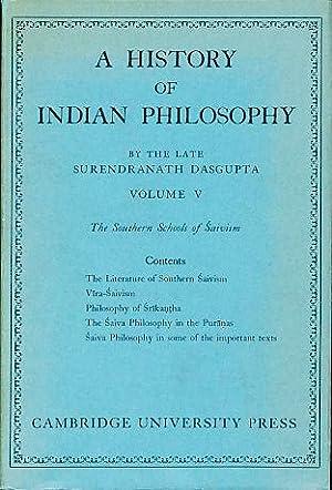 Southern schools of Saivism. A history of: Dasgupta, Surendranath: