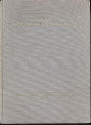 Index Litteraturae Entomologicae. Band II: F-L. Serie: Derksen, Walter und