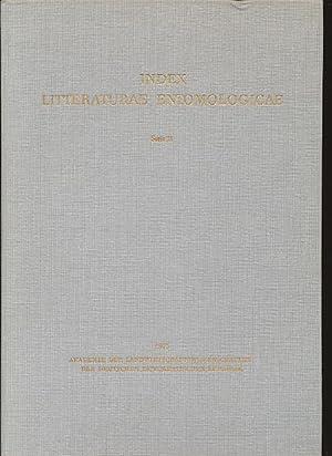 Index Litteraturae Entomologicae. Register von Reinhard Gaedike.: Derksen, Walter und