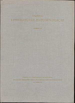 Index Litteraturae Entomologicae. Band I: A-E. Serie: Derksen, Walter und