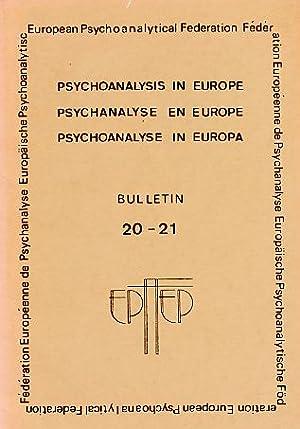 Psychoanalyse in Europa. Bulletin 20 - 21.