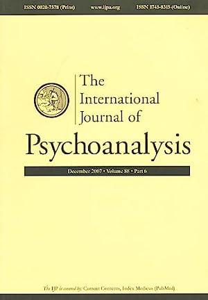 The International Journal of Psychoanalysis. December 2007.: Birksted-Breen, Dana und