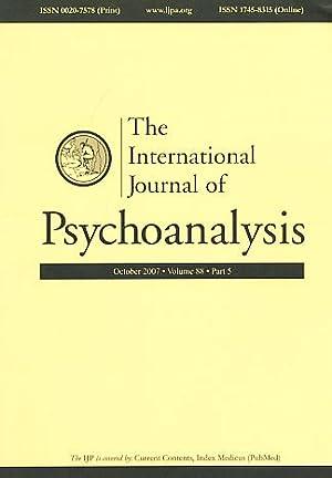 The International Journal of Psychoanalysis. October 2007.: Birksted-Breen, Dana und