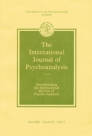 The International Journal of Psycho-Analysis. June 2000.: Tuckett, David (Ed.):