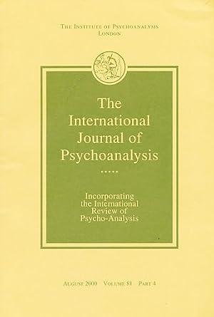 The International Journal of Psycho-Analysis. August 2000.: Tuckett, David (Ed.):