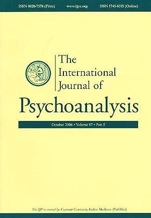 The International Journal of Psychoanalysis. October 2006.: Gabbard, Glen O.
