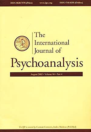 The International Journal of Psychoanalysis. August 2005.: Gabbard, Glen O.