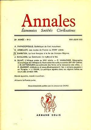 Annales. Economies Sociétes Civilistations, 28e Année, No: Braudel, Fernand, Georges