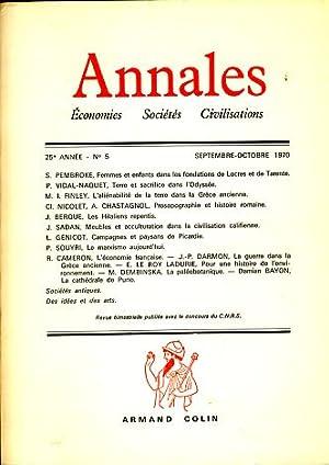 Annales. Economies Sociétes Civilistations, 25e Année, No: Braudel, Fernand, Georges