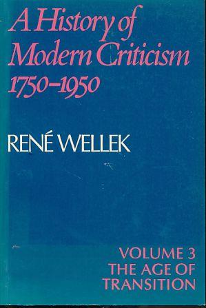 The age of transition. A history of: Wellek, René: