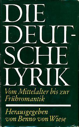 Das deutsche Lyrik. Vom Mittelalter bis zur: Wiese, Benno von