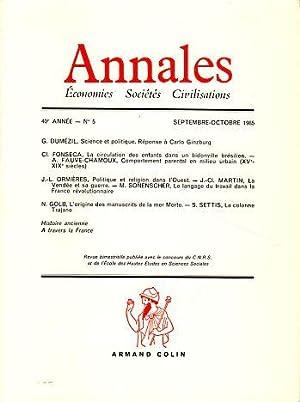 Annales. Economies Sociétes Civilistations, 40e Année, No: Braudel, Fernand, Jacques
