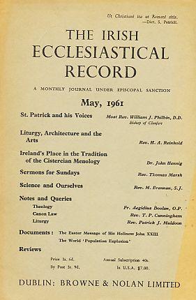 The Irish Ecclesiastical Record. May, 1961. A