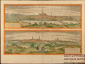 Mons. - Montes, Hannoniae Metropolis. / Arras.: Braun & Hogenberg