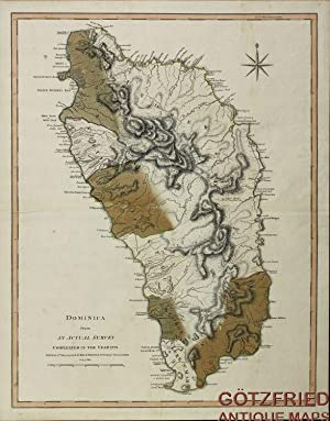 Dominica from An Actual Survey, Completed in the Year 1773 . 1794