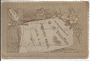 "Signed photograph (""Stephen Crane""). Cabinet card: Crane, Stephen"